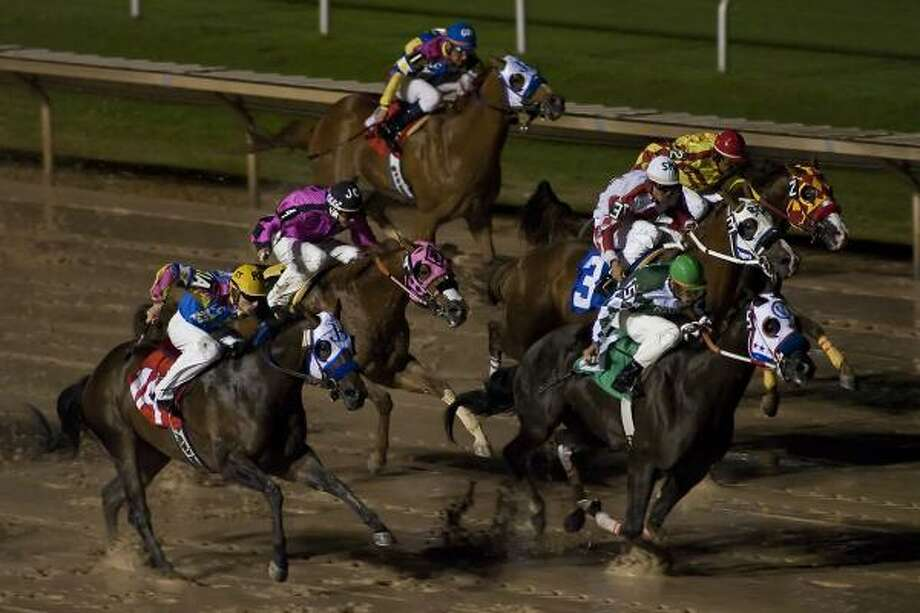 Sam Houston Race Park now looks ahead to abbreviated live seasons at least through 2013. Photo: Chronicle File Photo