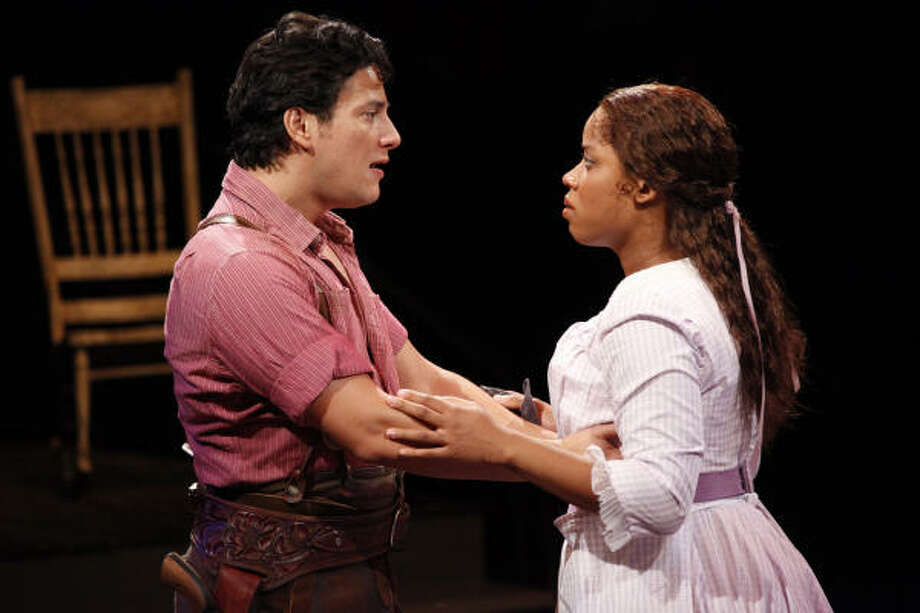Nicholas Rodriguez and Eleasha Gamble star as Curly and Laurey in a revival of Oklahoma! at the Mead Center for American Theater in Washington, D.C. Photo: Carol Rosegg