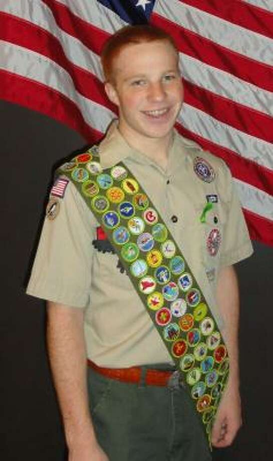 EVERY ONE: Matthew Miller, an Eagle Scout, has earned all of the 130 merit badges. Photo: Courtesy, Marie Miglin: Troop 584