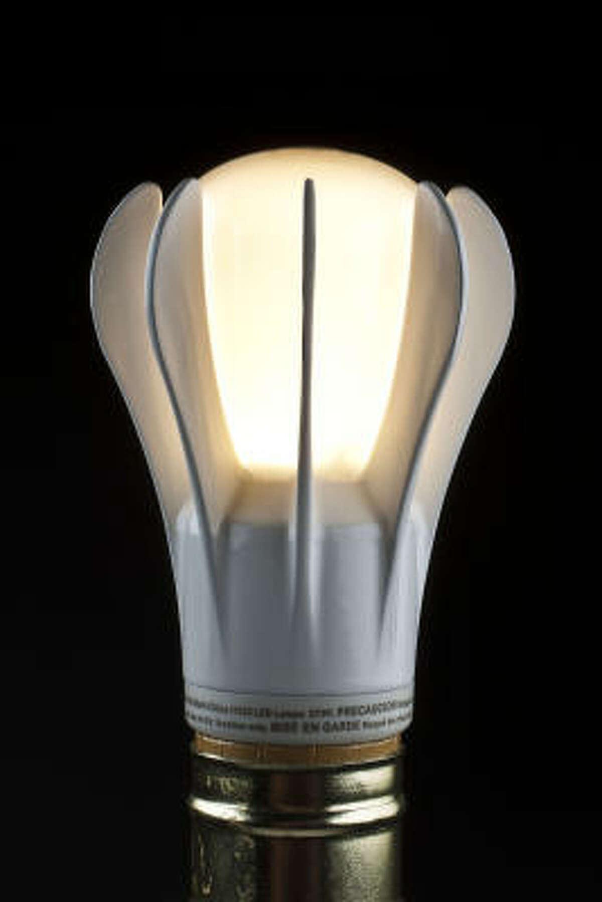GE Soft White A19 LED 9 watts; 450 lumens Light quality: Warm yellow Brightness: Medium $50 for one