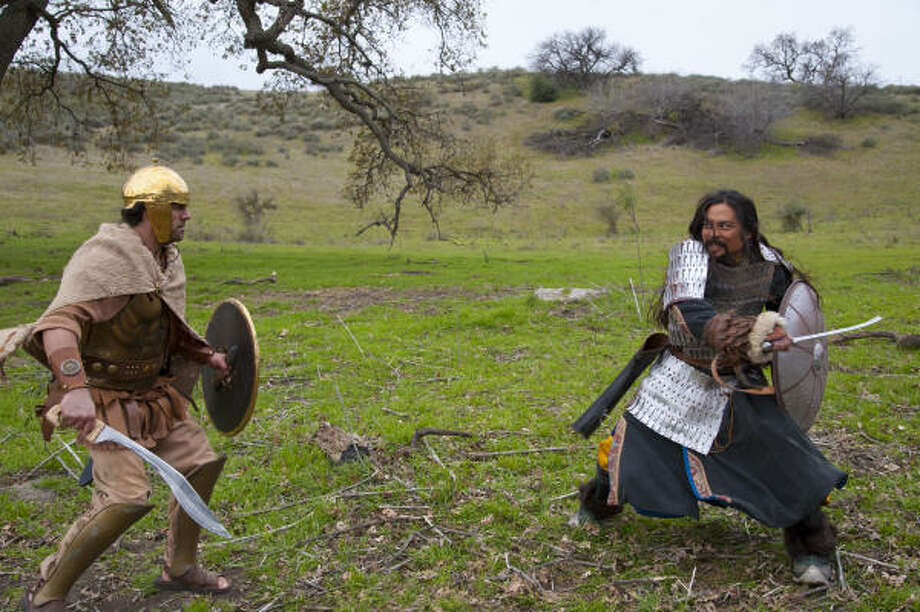 In one Deadliest Warrior episode, a viking and a samurai do battle. The show relies on historical records and experts to decide who triumphs. Photo: Spike TV