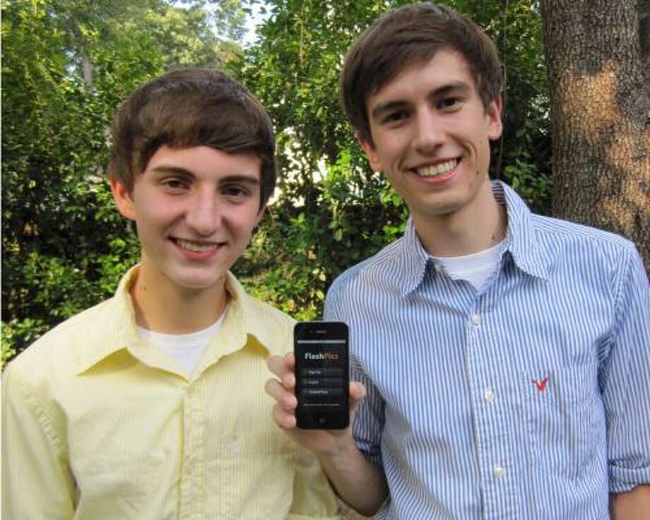 FlashPics, created by Kingwood brothers Coulton, left, and Brandon Vento, is a social networking, picture-sharing application. The application allows users to manage pictures shared on various sites in one location. Photo: Coultons