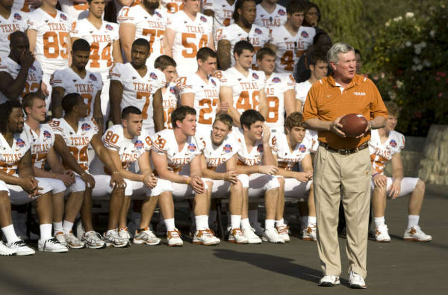 During football season, coach Mack Brown will take part in two weekly shows. Photo: Brett Coomer, Chronicle
