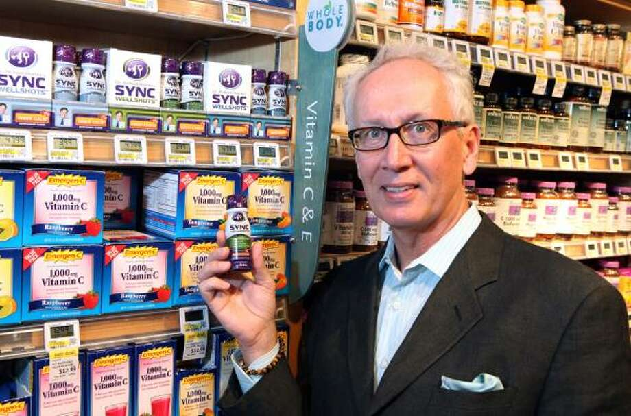 Don Short has created and marketed a line of all-natural drinks, Dr. Michael Murray's Sync Wellshots. Photo: Alan Warren:, For The Chronicle