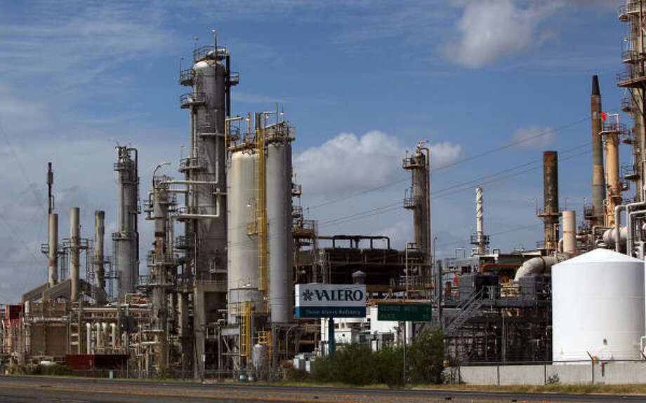 As more oil from the Eagle Ford shale arrives at Valero's Three Rivers Refinery, between San Antonio and Corpus Christi, it will displace imported oil. About half of the oil bought for the Three Rivers plant arrives over the water from foreign sources. Photo: John Davenport:, Express-News