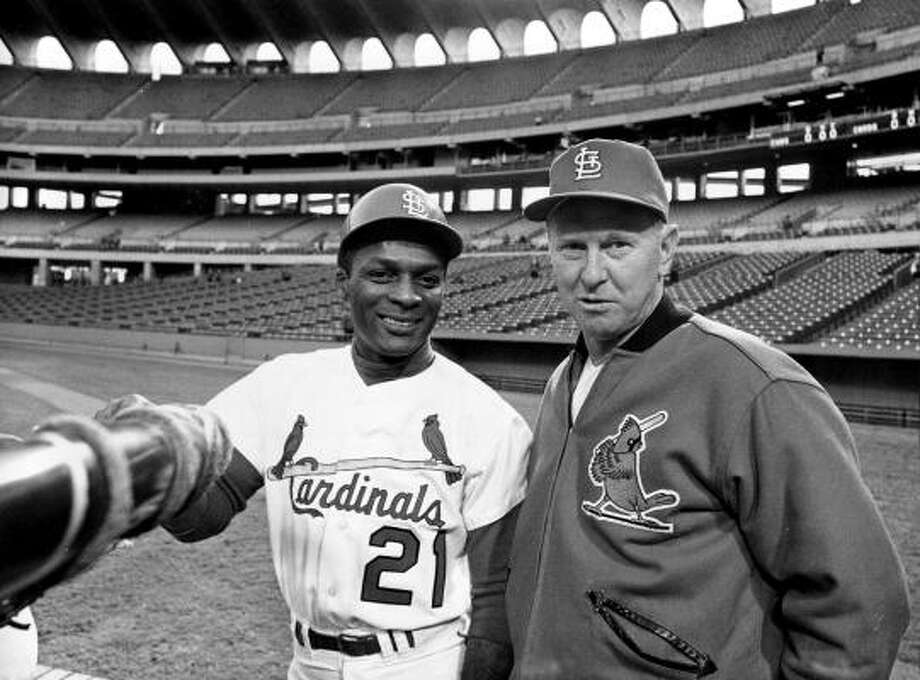 HBO Sports' upcoming documentary highlights free agency pioneer Curt Flood, left. Photo: AP