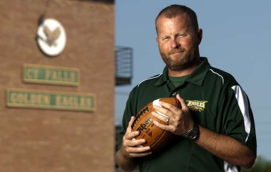 Cypress Falls football coach Kirk Eaton enters the season with a new perspective on life after his accident. Photo: Thomas B. Shea, For The Chronicle