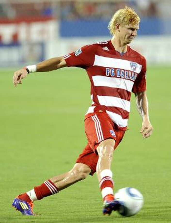 Brek Shea, who plays for FC Dallas, made a strong showing in his debut as a substitute for the U.S. national team in a 1-1 draw with Mexico on Wednesday. Photo: Matt Strasen, Associated Press