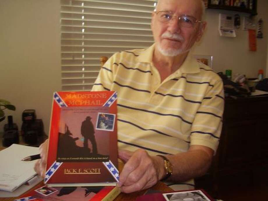 Jack Scott, 77, originally released the 70-page Madstone McPhail in 1990 but was urged to expand the story. After 20 years, he is rereleasing the book, which is now 321 pages. Photo: Bryan Kirk