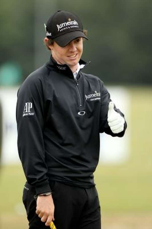 Yes, things are looking up for Rory McIlroy these days. Photo: Andrew Redington, Getty