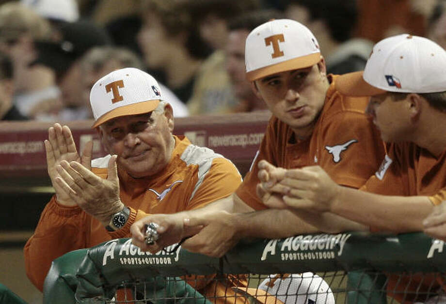 Texas coach Augie Garrido returns to the town that has essentially become a summer home. Photo: Bob Levey, For The Chronicle