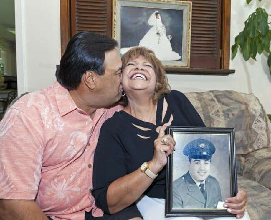 Nora and Benny Rodriguez met at a junior high school dance 40 years ago. Photo: Craig Hartley, For The Chronicle