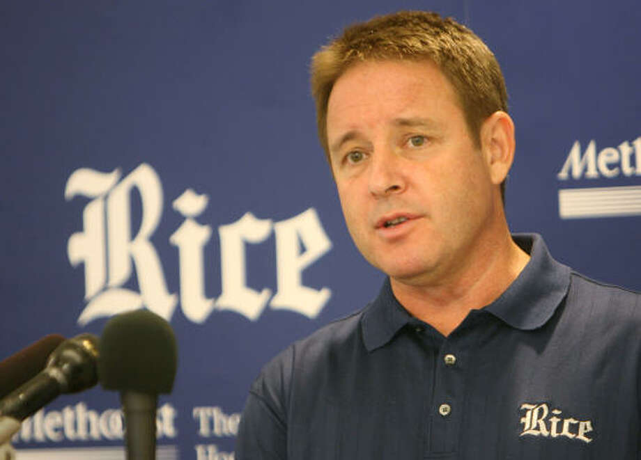 Rice gave men's basketball coach Ben Braun a two-year contract extension. Photo: Mayra Beltran, Chronicle