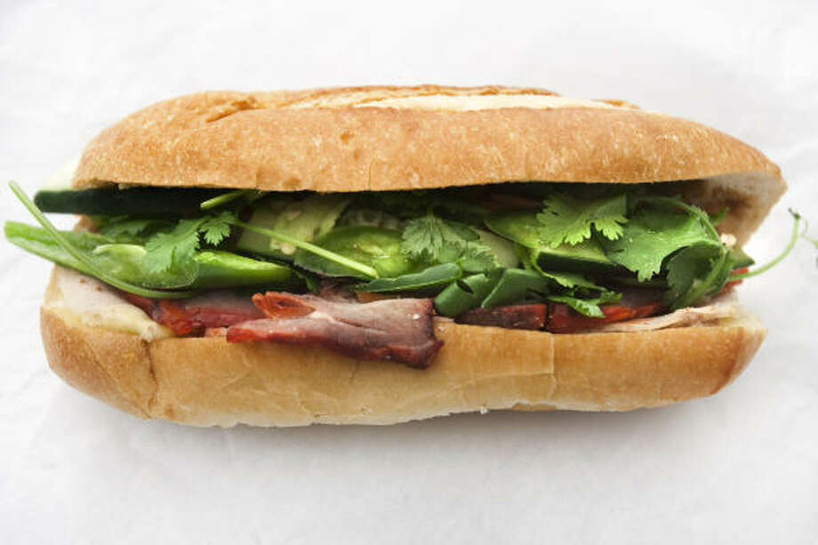 New banh mi and boba tea shop Le's Teahouse. The just-opened Barker Cypress sandwich and dessert shop has an extensive drinks menu and reasonably priced bites.Le's Teahouse Gourmet Sandwiches & TapiocaLocation:6965 Barker Cypress Rd., 713-561-5541 Photo: Chronicle Files