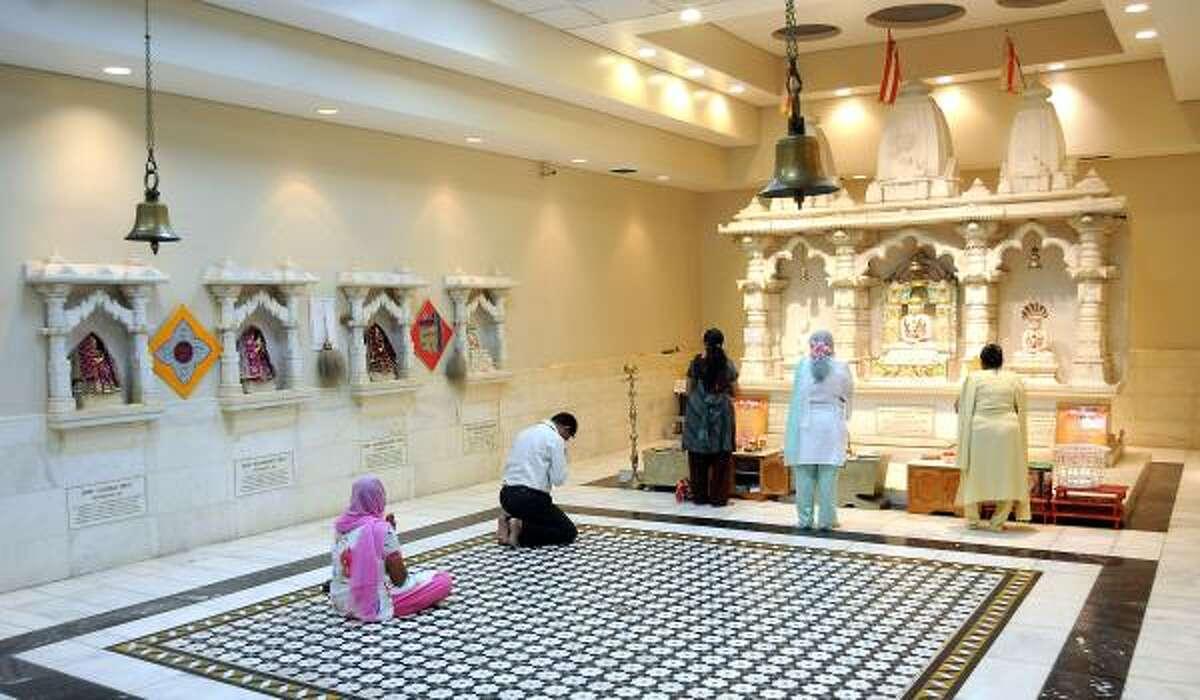 The Jain community in Houston numbers around 1,000 families, and many gather for regular Sunday worship at the Jain Vishva Bharati-Preksha Meditation Center.