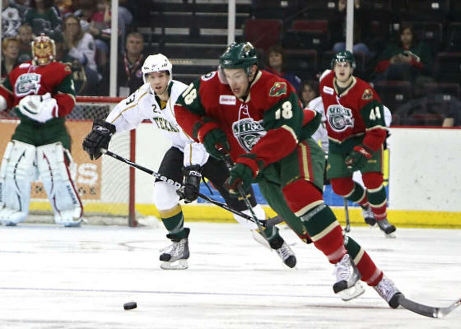 Colton Gillies finished the playoffs tied for third on the Aeros in scoring with 12 points. Photo: Courtesy Of The Aeros