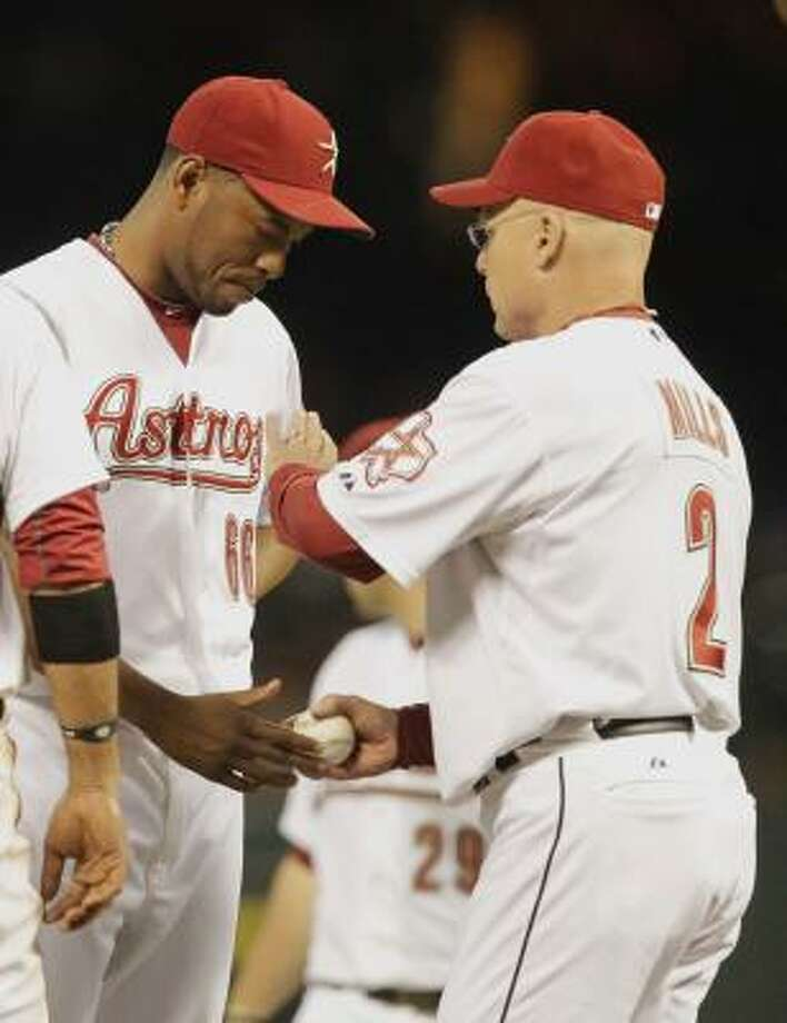 The Astros young and cheap bullpen is the worst in the majors. Photo: Cody Duty, Chronicle