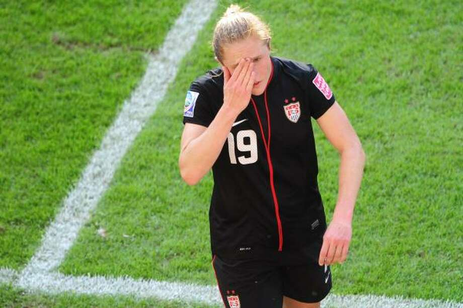 Dave Smith was not surprised by the calm demeanor of U.S. defender Rachel Buehler after her red card against Brazil. Photo: JOHANNES EISELE, Getty