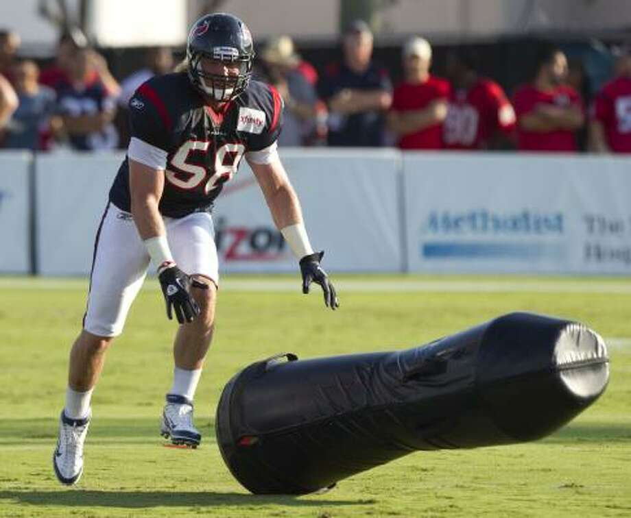 Linebacker Brooks Reed has a variety of obstacles to overcome to become established in the NFL. Photo: Brett Coomer, Chronicle