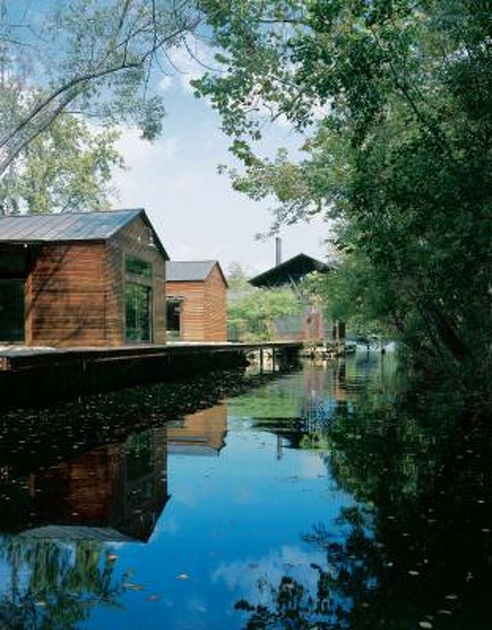 The Lake|Flato architecture firm built this project on Lake Austin. Photo: Paul Hester