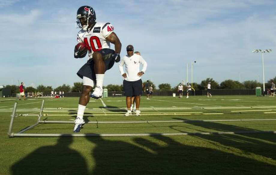 Texas native Javarris Williams (40) feeling right at home with the Texans. Photo: Brett Coomer, Houston Chronicle