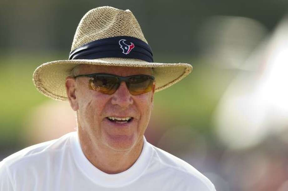 Texans owner Bob McNair watches practice. Photo: Brett Coomer, Chronicle