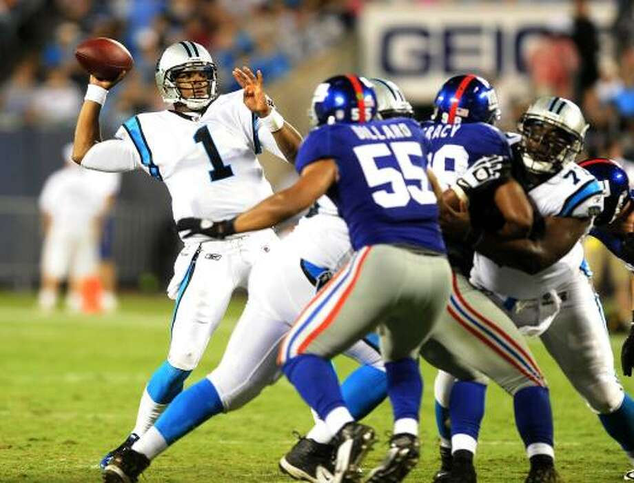 Aug. 13: Panthers 20, Giants 10Panthers quarterback Cam Newton (1) throws toward the end zone during the second quarter. Photo: David T. Foster III, McClatchy-Tribune News Service