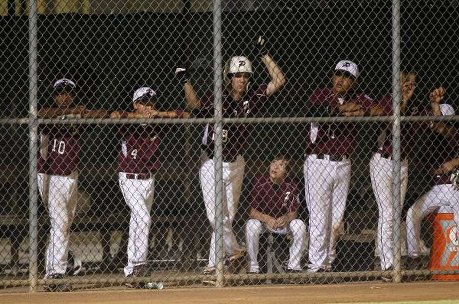 Pearland Maroon Little League team reacts after being eliminated in the title game. Photo: James Nielsen, Chronicle
