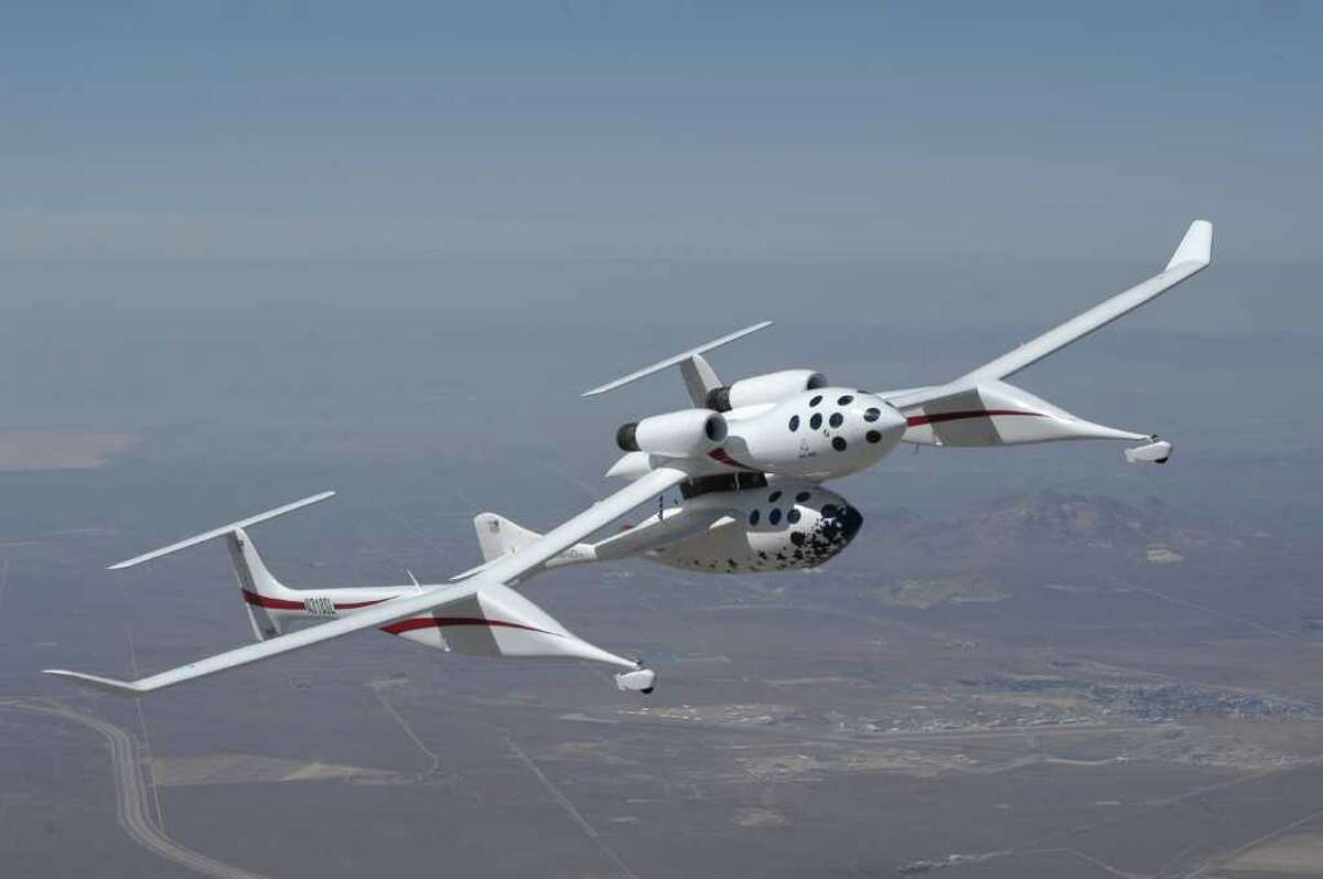 Maybe it's not weird, but it sure is cool. Microsoft co-founder Paul Allen was one of the biggest investors in SpaceShipOne, which in 2004 became the first privately manned vehicle to go into space. Richard Branson's Virgin Galactic is now testing SpaceShipTwo.