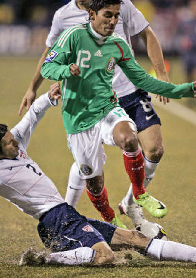 Feb. 11, 2009: U.S. 2, Mexico 0 Michael Bradley scored two goals and marked the end for then-Mexican national team coach Sven-Goran Eriksson. Photo: Al Behrman, AP