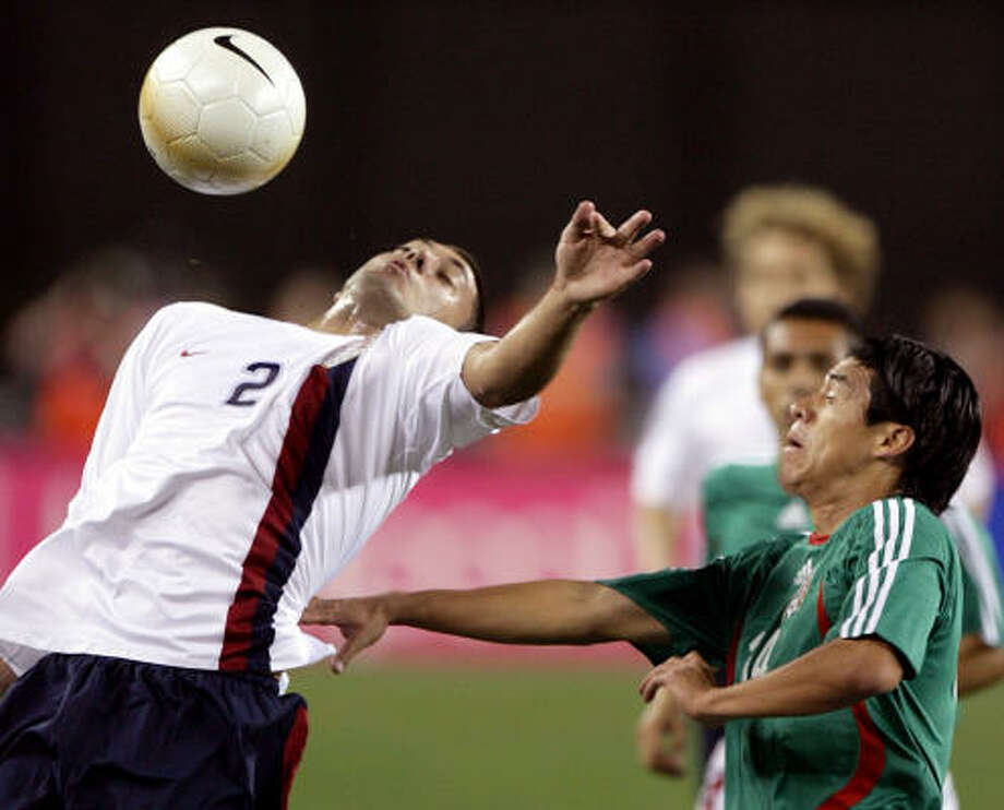 Feb. 7, 2007: U.S. 2, Mexico 0This was the last time the teams faced each other in a friendly. Photo: Paul Connors, ASSOCIATED PRESS