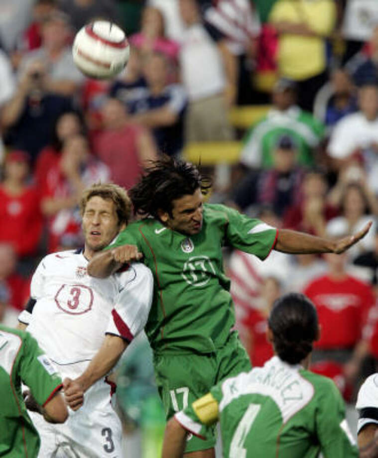 Sept. 3, 2005: U.S. 2, Mexico 0 The U.S. continued to dominate Mexico in Columbus with their second 2-0 victory in a row. Photo: CHARLES REX ARBOGAST, ASSOCIATED PRESS