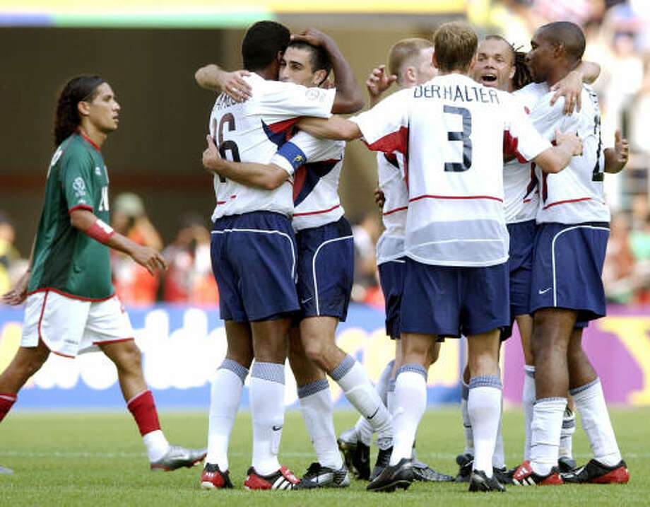 June 17, 2002: U.S. 2, Mexico 0This was one of the biggest upsets in the World Cup. The U.S. advanced to the quarterfinals, leaving Mexico in the round of 16 for the third tournament in a row. Photo: AMY SANCETTA, AP