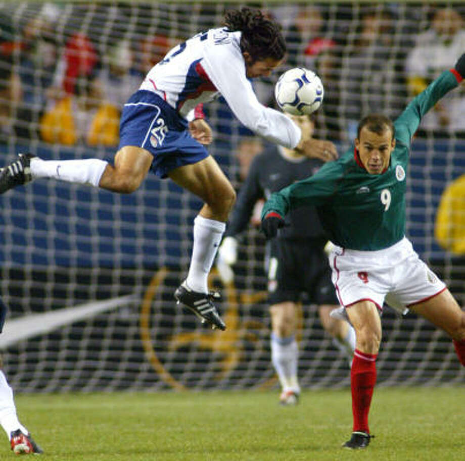 April 3, 2002: U.S. 1, Mexico 0In a friendly match before the World Cup, the U.S. struck a big blow to Mexico's confidence with a 1-0 win in Denver. Photo: JACK DEMPSEY, ASSOCIATED PRESS