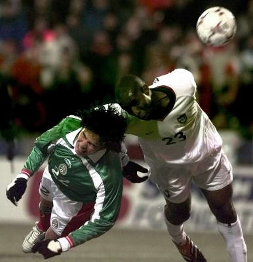 February 28, 2001: U.S. 2, Mexico 0 This was the final game in the first three-game winning streak against Mexico. Previously, the U.S. defeated Mexico in Los Angeles and East Rutherford. Photo: CHRIS PUTMAN, ASSOCIATED PRESS