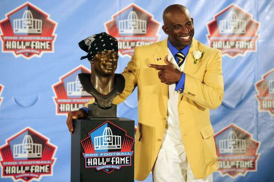Deion Sanders, CB   The ultimate shutdown corner won Super Bowl rings with the 49ers and Cowboys. Photo: Jason Miller, Getty