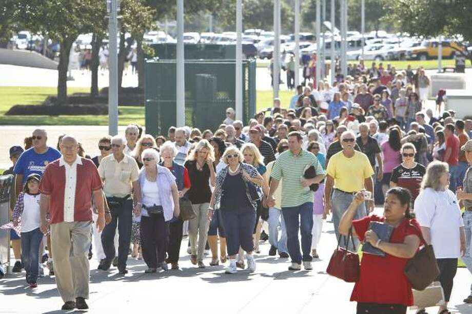 Before Saturday, the biggest estimates were 8,000 to 10,000 participants. The stadium seats about 70,000 when all sections are utilized. Photo: Michael Paulsen, Houston Chronicle