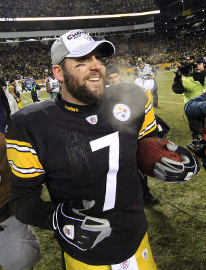 Ben Roethlisberger (QB) Pittsburgh Steelers  Odds: 18/1 Big Ben finish the year strong despite missing the first four games. He finished with 3,200 yards and 17 touchdowns. The Steelers are still a run first, pass second team, but when the team needs a score in the waning minutes of the game they turn to Big Ben. Photo: Gene J. Puskar