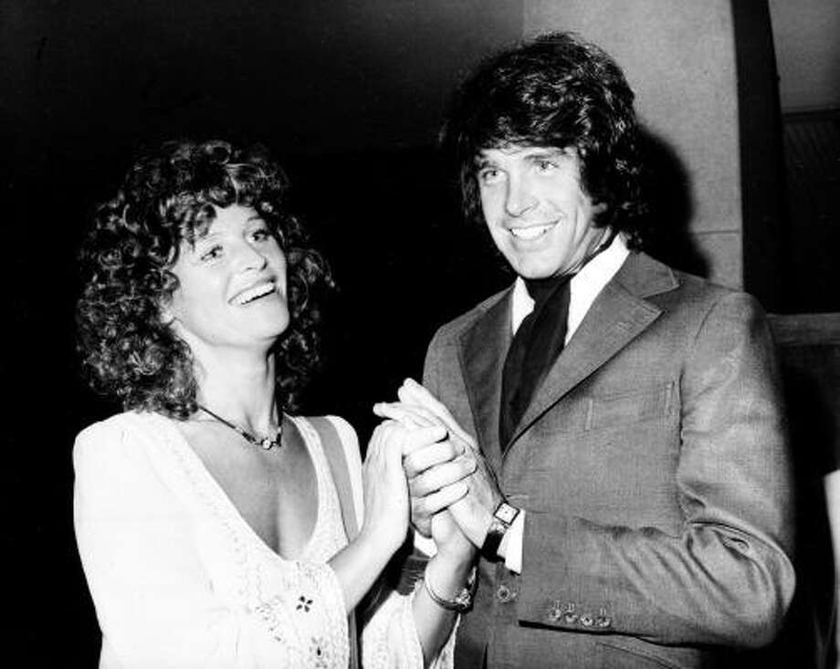 Julie Christie and Warren Beatty costarred in a number of films including Shampoo and Heaven Can Wait after they broke up in the early '70s. Photo: Anonymous, ASSOCIATED PRESS