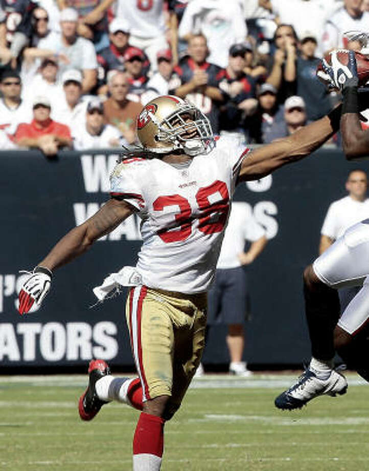 FS Dashon Goldson, 49ersStarted the last two years for Vance Joseph, the new Texans' secondary coach. Goldson played hurt last season and shouldn't cost a lot of money compared to some of the other free agents. Photo: Bob Levey, Getty Images
