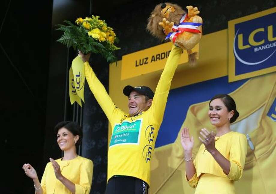 July 14Twelfth Stage Race leader Thomas Voeckler of France and Team Europcar retained his yellow jersey after stage twelve of the 2011 Tour de France from Cugnaux to Luz-Ardiden. Photo: Bryn Lennon, Getty
