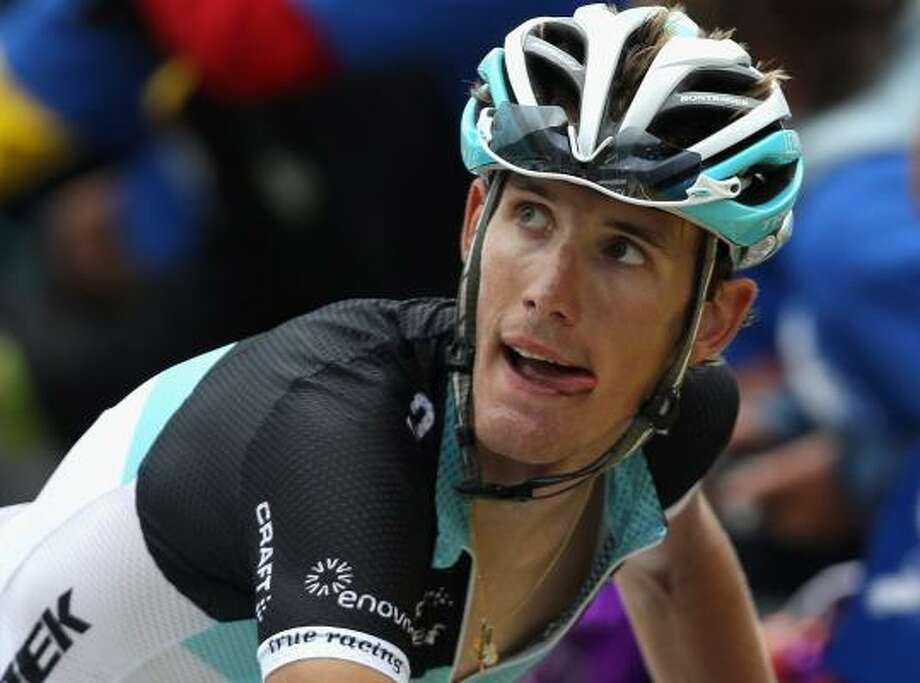 Andy Schleck of Luxembourg and Team Leopard-Trek checks the TV screen after finishing stage twelve of the 2011 Tour de France. Photo: Bryn Lennon, Getty