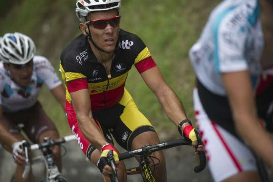 Belgium's Philippe Gilbert rides in the 211 km and twelfth stage of the 2011 Tour de France. Photo: LIONEL BONAVENTURE, Getty