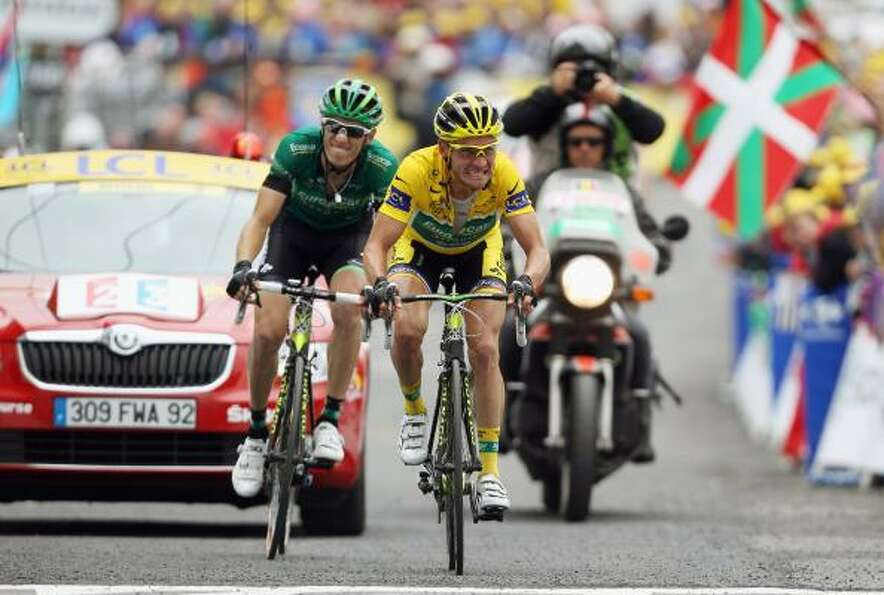Race leader Thomas Voeckler of France and Team Europcar retained his yellow jersey after stage twelv