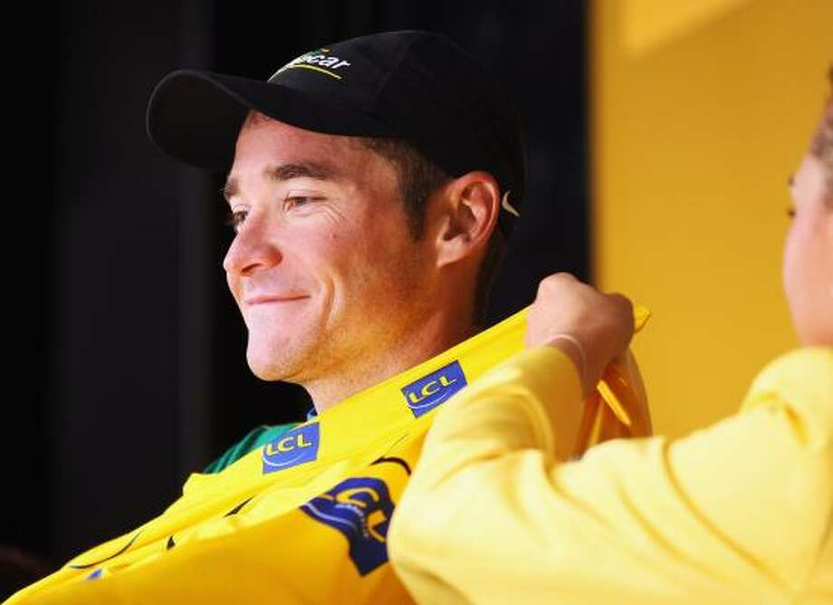 Thomas Voeckler of France and Team Europcar retained his yellow jersey during stage eleven of the 2011 Tour de France. Photo: Bryn Lennon, Getty