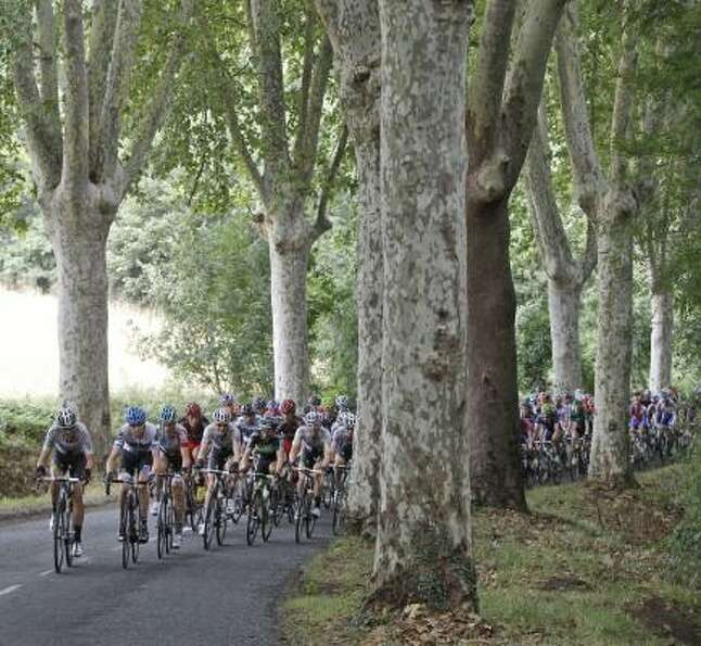 The 11th stage of the Tour de France started in Blaye les Mines and finishes in Lavaur, south centra