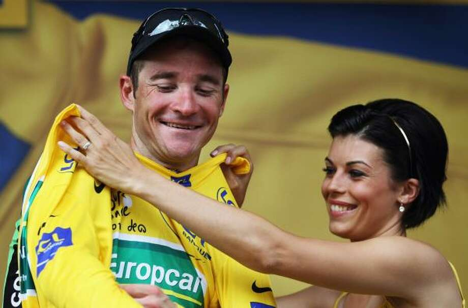 July 12Tenth StageThomas Voeckler of France and Team Europcar retained his yellow jersey after stage ten of the 2011 Tour de France. Photo: Bryn Lennon, Getty