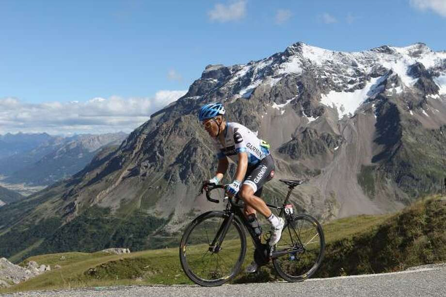 Tom Danielson of USA and TeamGarmin-Cervelo on the final climb to the summit of Galibier during Stage 18 of the 2011 Tour de France. Photo: Michael Steele, Getty