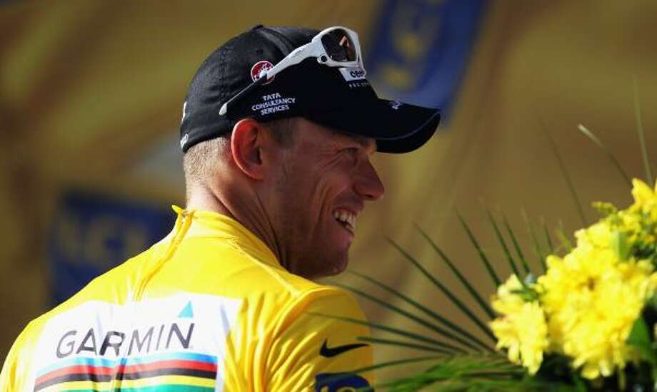 Thor Hushovd of Norway and the Garmin-Cervelo team retained his yellow jersey after stage seven. Photo: Bryn Lennon, Getty