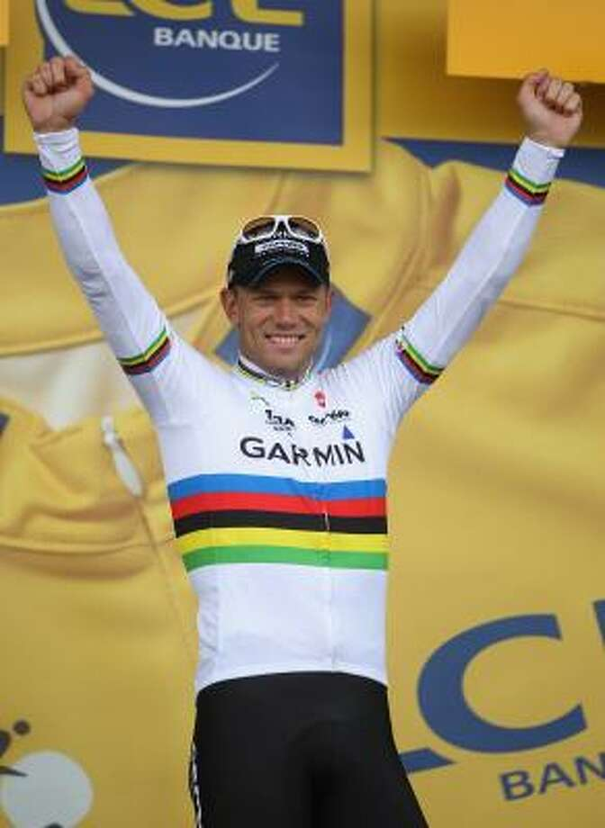July 7Sixth StageThor Hushovd of Norway and team Garmin Cervelo retains the yellow jersey after Stage 6 of the 2011 Tour de France. Photo: Michael Steele, Getty